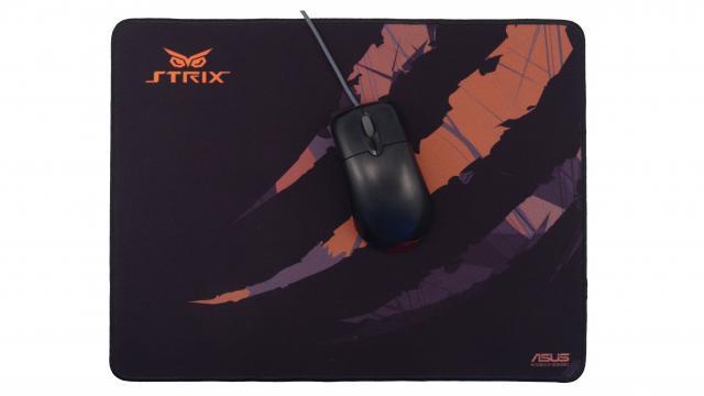 Asus Strix Glide Control framsida med mus
