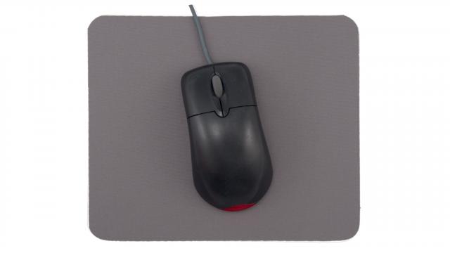 Musmatta basic grå framsida med mus